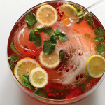Pomegrante Champagne Punch