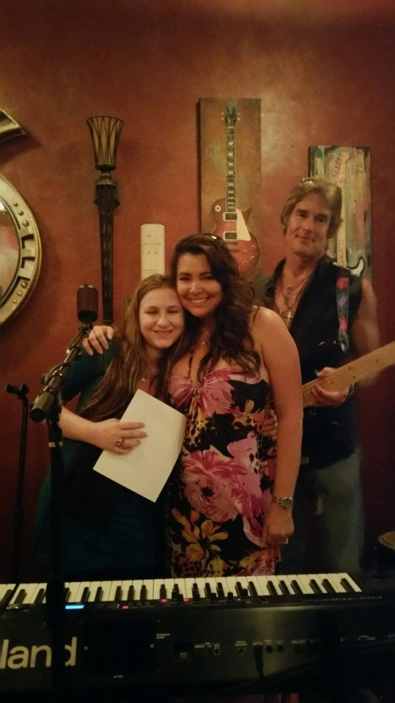 Carly, Devin and Ronn Moss